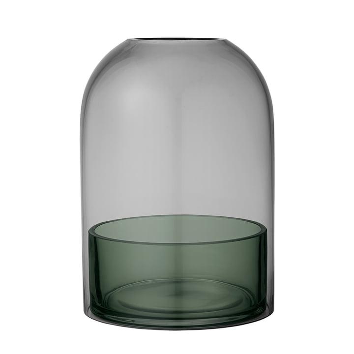 Tota Windlicht, Ø 16,2 x H 23 cm, schwarz / forest von AYTM