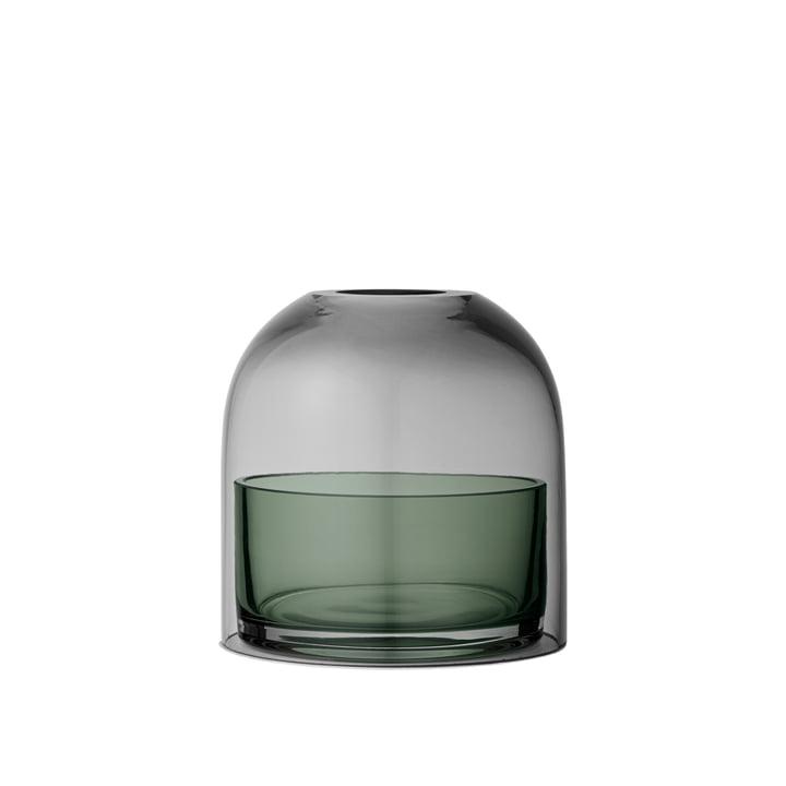 Tota Teelichthalter, Ø 9,3 x H 10,3 cm, schwarz / forest von AYTM