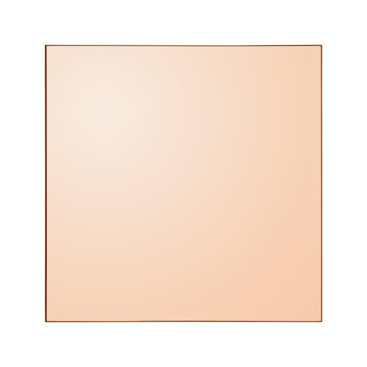 Quadro Wandspiegel, 90 x 90 cm in amber von AYTM