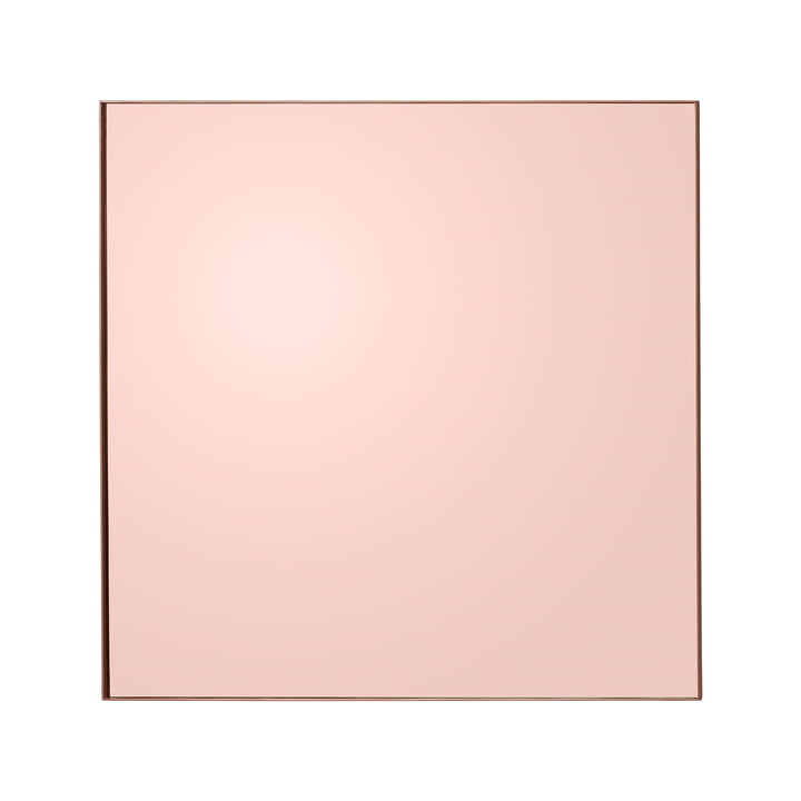 Quadro Wandspiegel, 90 x 90 cm in rose von AYTM