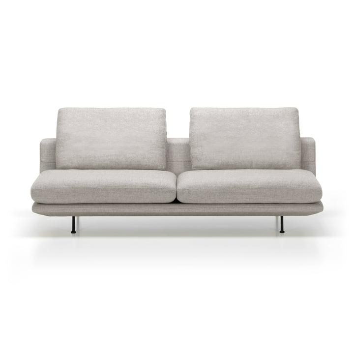 Grand Sofà 3-Sitzer beidseitig bündig von Vitra mit Untergestell basic dark / Bezug Corsaro stone melange 05 (ohne Heftung)