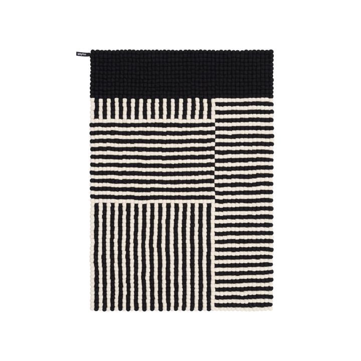 Lino Filzkugelteppich, 90 x 130 cm in schwarz / weiß von myfelt