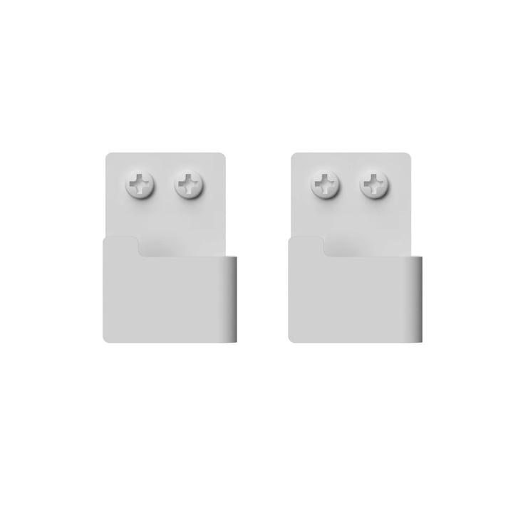 Wandhaken-Set von Nichba Design in weiß (2er-Set)