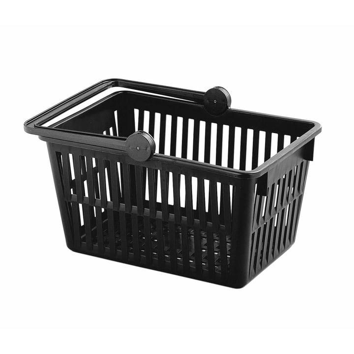 Einkaufskorb von Stöckli in schwarz (recycelt)