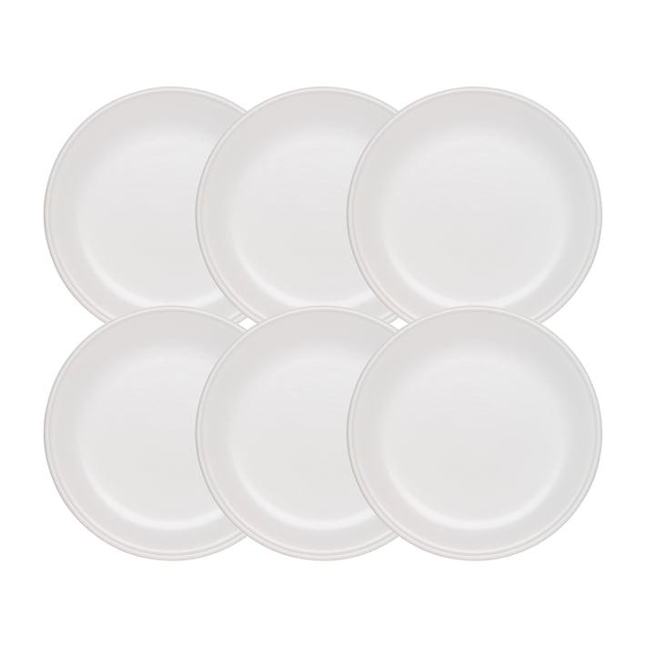 Tradition Fondueteller von Stöckli, Ø 21 cm / weiß (6er-Set)