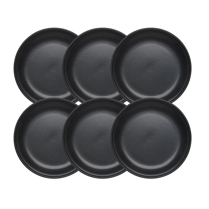 Tradition Fondueteller von Stöckli, Ø 21 cm in schwarz (6er-Set)
