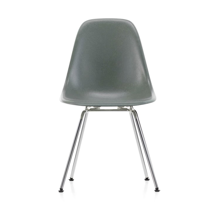 Eames Fiberglass Side Chair DSX von Vitra in verchromt / Eames sea foam green