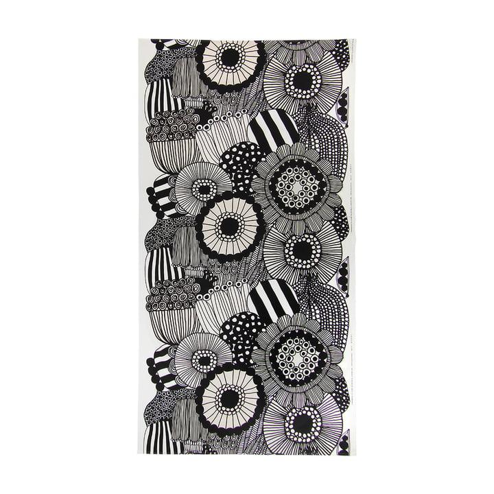 Siirtolapuutarha Tischdecke, 140 x 280 cm in schwarz / weiß von Marimekko