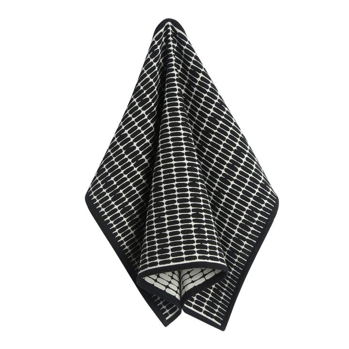 Alku Geschirrtuch, 47 x 70 cm in schwarz / ecru von Marimekko