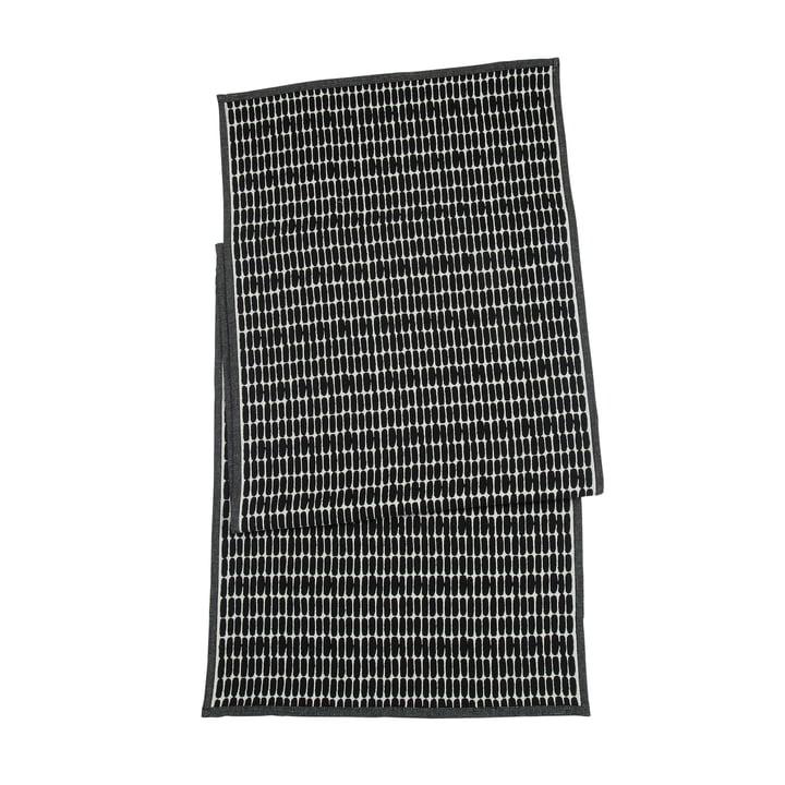 Alku Tischläufer, 47 x 150 cm in schwarz / ecru von Marimekko