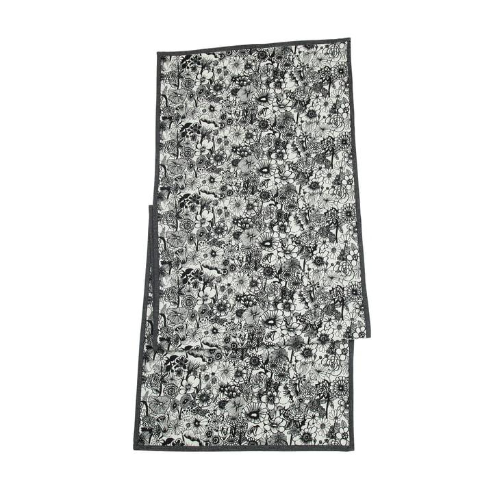 Seppelekukat Tischläufer, 47 x 150 cm in schwarz / weiß von Marimekko