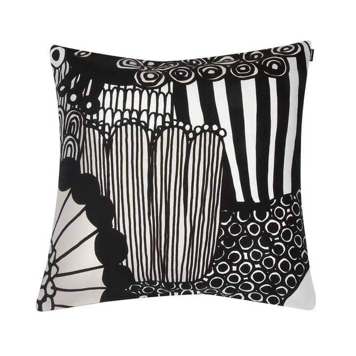 Siirtolapuutarha Kissenbezug 50 x 50 cm von Marimekko in schwarz / weiß / hellbeige