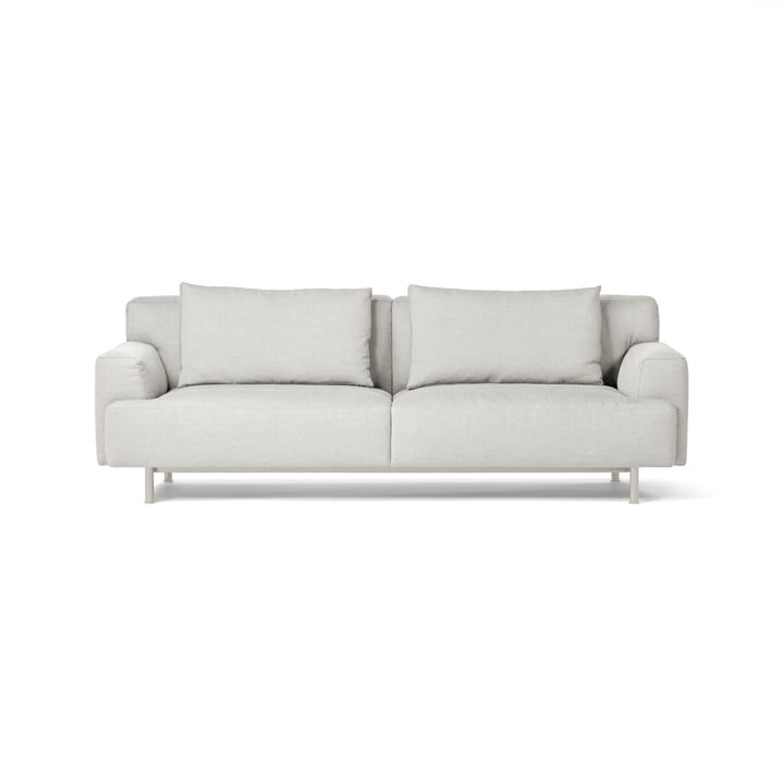 Plenty Sofa 3-Sitzer von Million in silk grey (RAL 7044) / hellgrau (Maple 112)