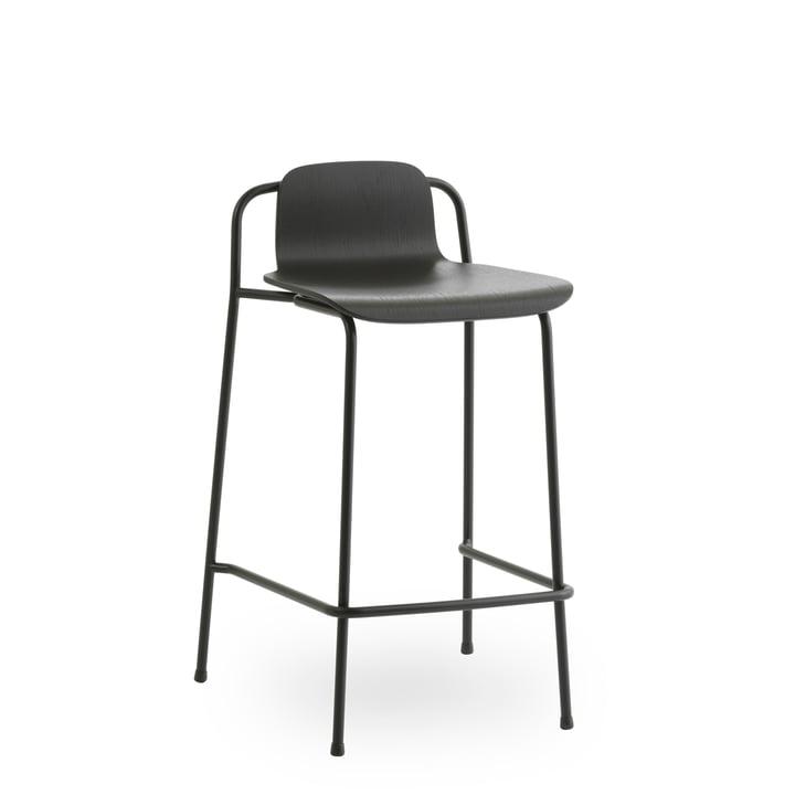 Studio Barhocker 65 cm von Normann Copenhagen in schwarz / schwarz