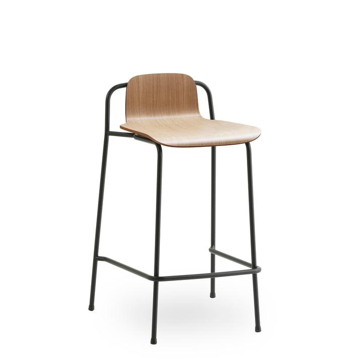 Studio Barhocker 65 cm von Normann Copenhagen in schwarz / Eiche