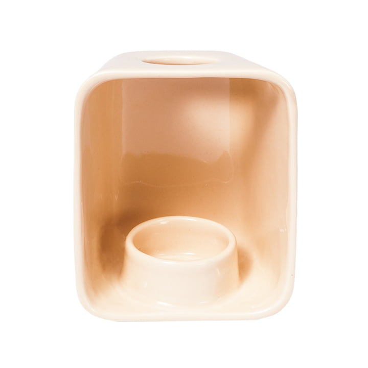 Candle TorchTeelichthalter von Petite Friture in beigerot (RAL 3012)