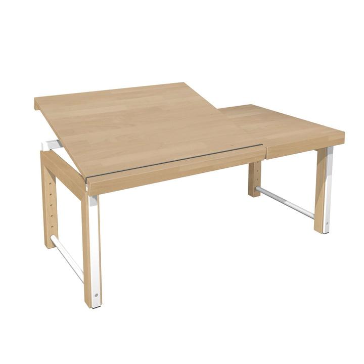 Ziggy Schreibtisch geteilte Platte von De Breuyn in natur / weiß