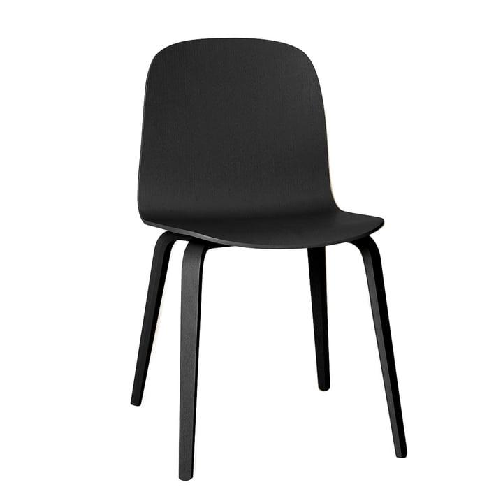 Visu Stuhl von Muuto in schwarz (RAL 9017)