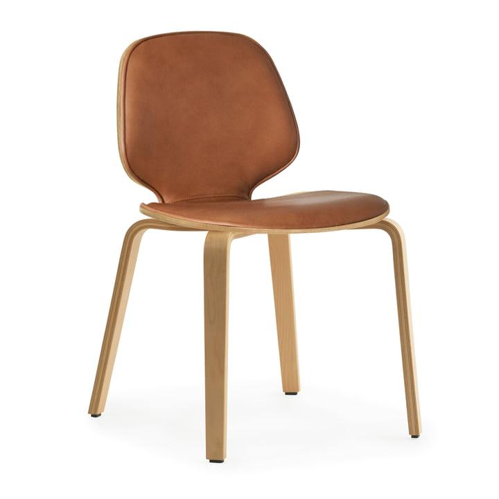 My Chair Wood von Normann Copenhagen in Eiche / Sörensen Ultra Leder Brandy