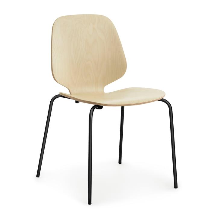 My Chair von Normann Copenhagen in Stahl schwarz / Birke