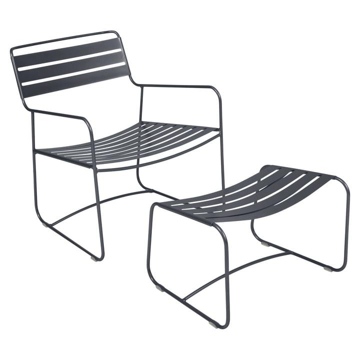 Surprising Lounger Sessel + Fußablage von Fermob in anthrazit