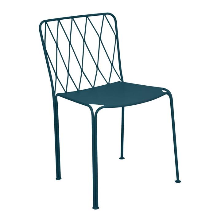 Kintbury Stuhl von Fermob in acapulcoblau