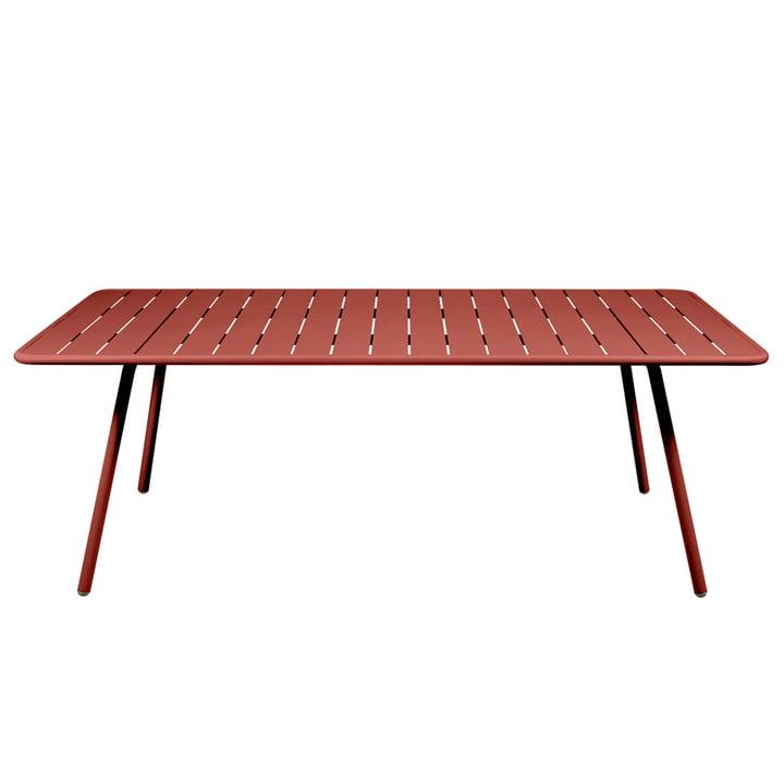 Luxembourg Tisch rechteckig 100 x 207 cm von Fermob in ockerrot