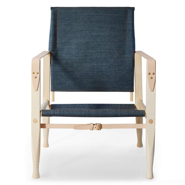 KK47000 Safari Chair von Carl Hansen in Esche geölt / Leder Natur / Denim (Limited Edition)