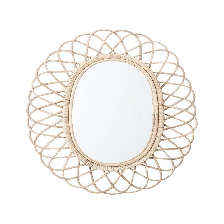 Spiegel geflochten von Bloomingville, L 49 x H 53 cm
