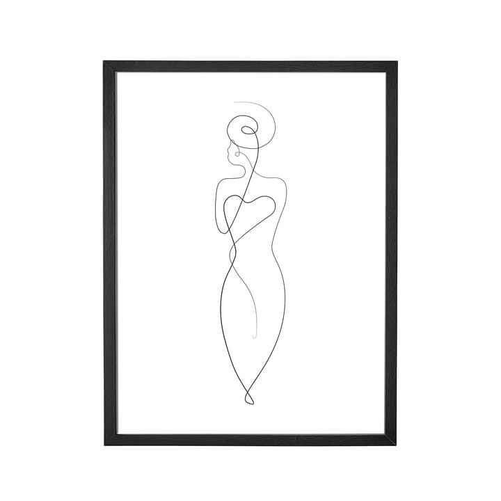 Bilderrahmen von Bloomingville, L 35 x H 45 cm in schwarz