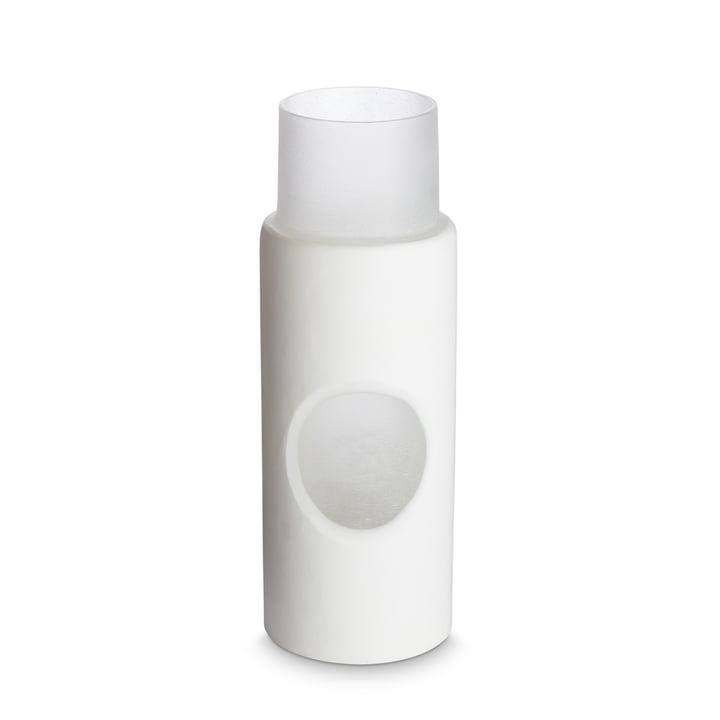 Carved Vase von Tom Dixon, Ø 7.5 x H 23 cm in weiß