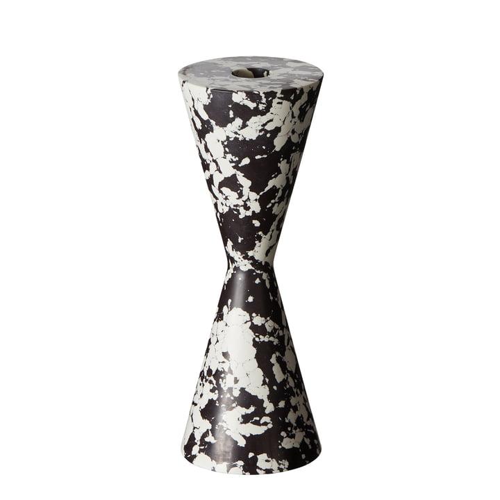 Swirl Cone Kerzenhalter von Tom Dixon in schwarz / weiß