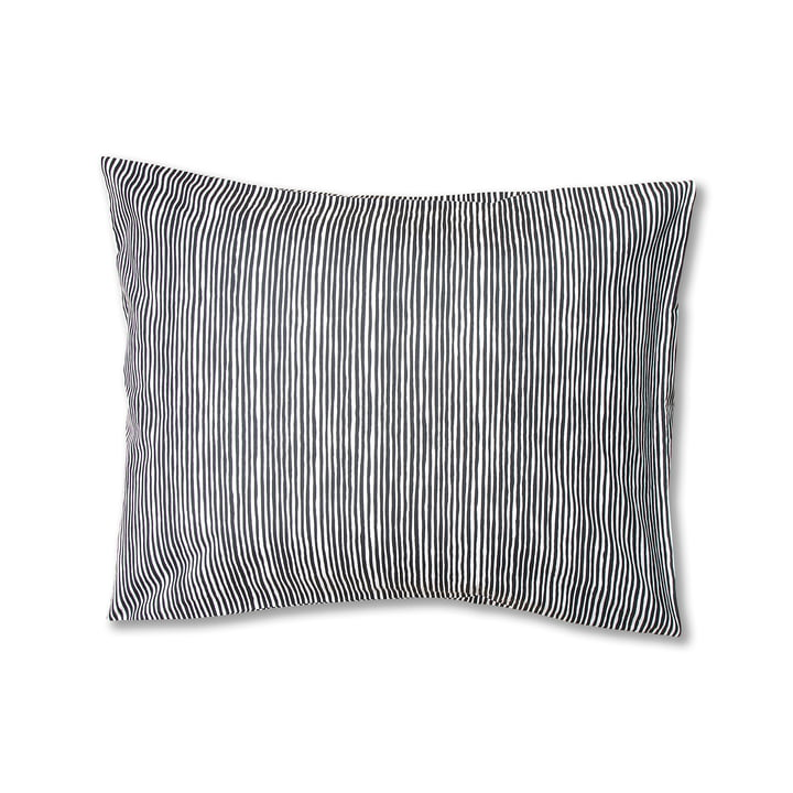 Varvunraita Kopfkissenbezug von Marimekko, 50 x 60 cm in schwarz / weiß