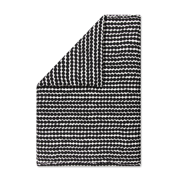 Räsymatto Deckenbezug von Marimekko, 150 x 210 cm in schwarz / weiß