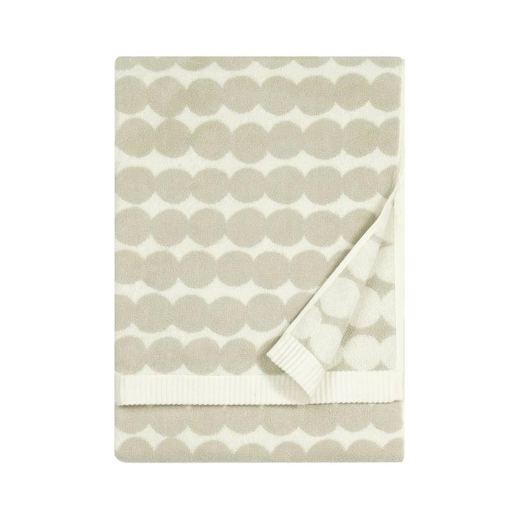 Räsymatto Handtuch von Marimekko, 50 x 100 cm in weiß / beige