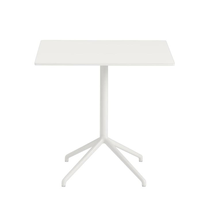 Still Café Tisch H 73 cm, 75 x 65 cm in weiß von Muuto