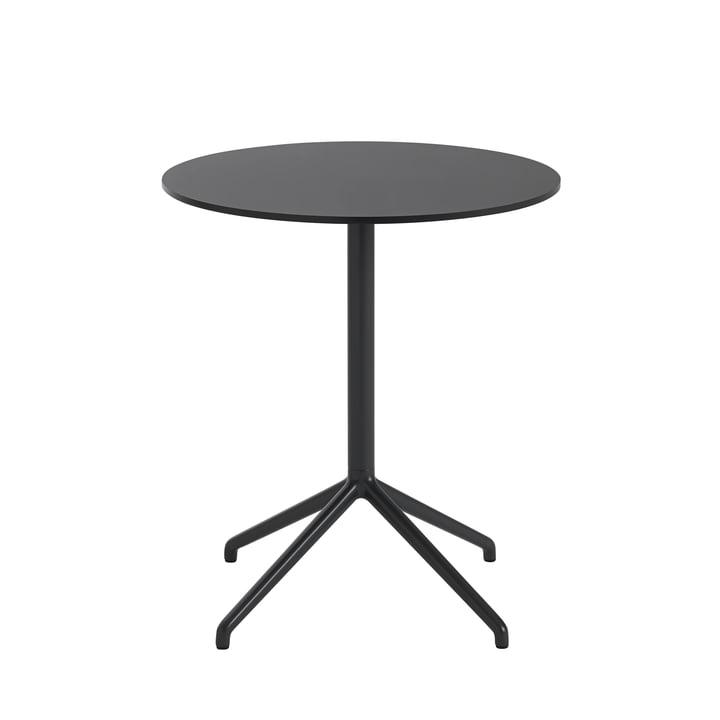 Still Café Tisch, Ø 65 x H 73 cm in schwarz von Muuto