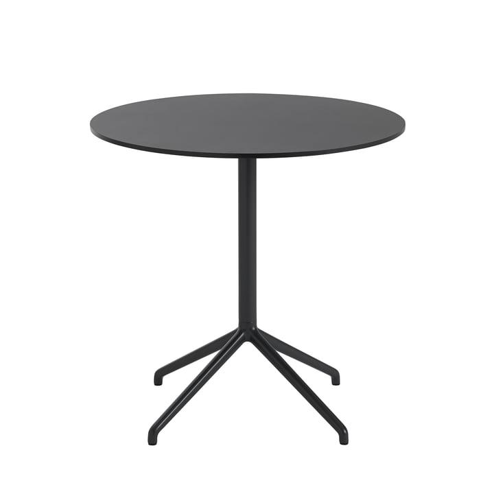 Still Café Tisch, Ø 75 x H 73 cm in schwarz von Muuto