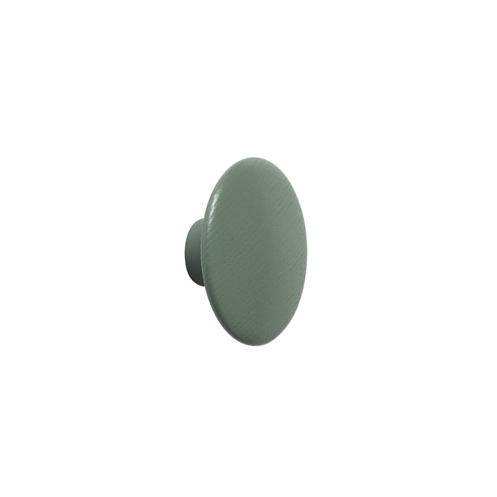 "Wandhaken ""The Dots"" single X-Small in dusty green von Muuto"