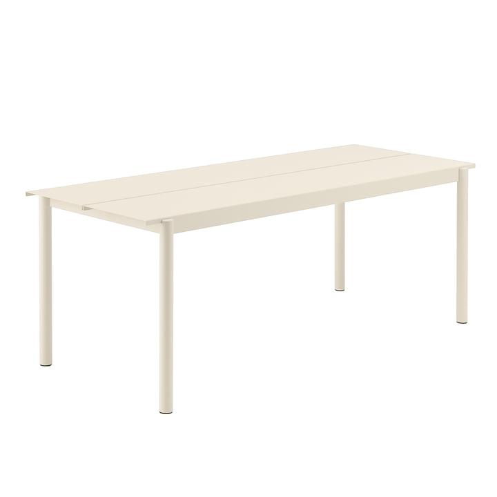 Linear Steel Tisch, 200 x 80 cm in weiß von Muuto