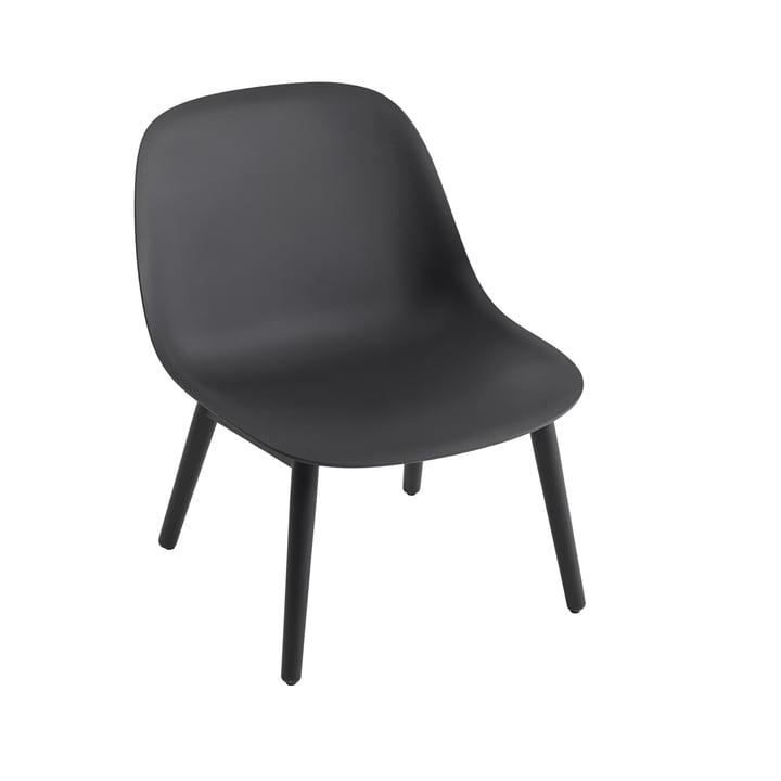 Fiber Lounge ChairWood Base in schwarz von Muuto