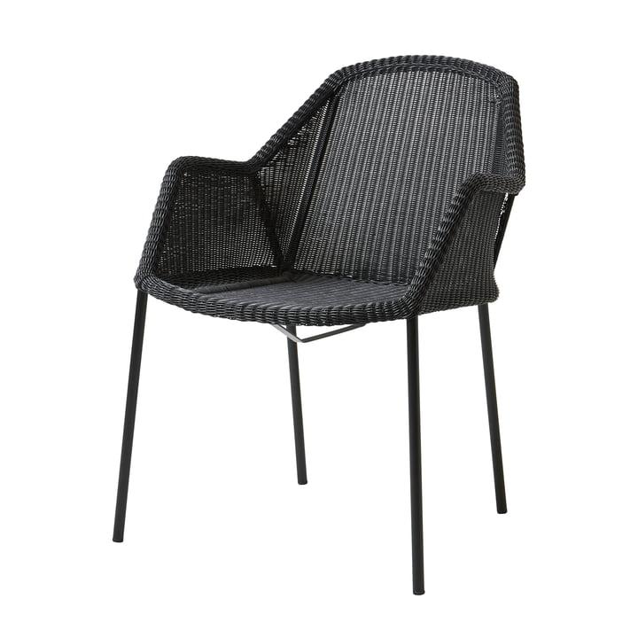 Breeze Sessel stapelbar (5464) von Cane-line in schwarz