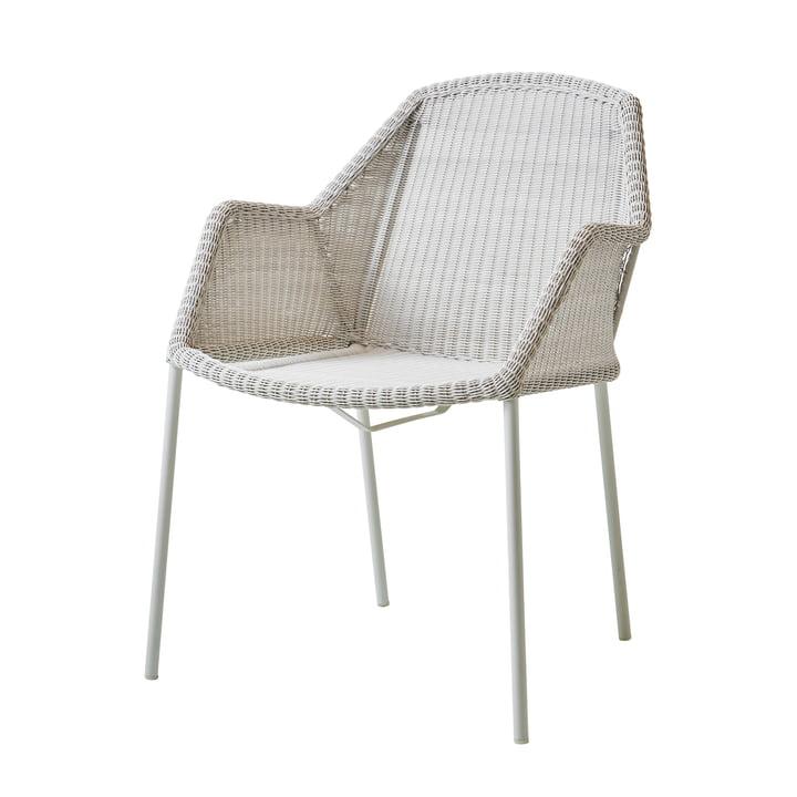 Breeze Sessel stapelbar (5464) von Cane-line in weiß-grau