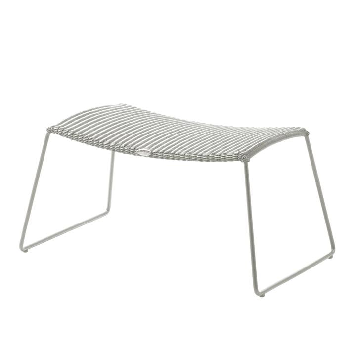 Breeze Hocker (5369) von Cane-line in weiß-grau