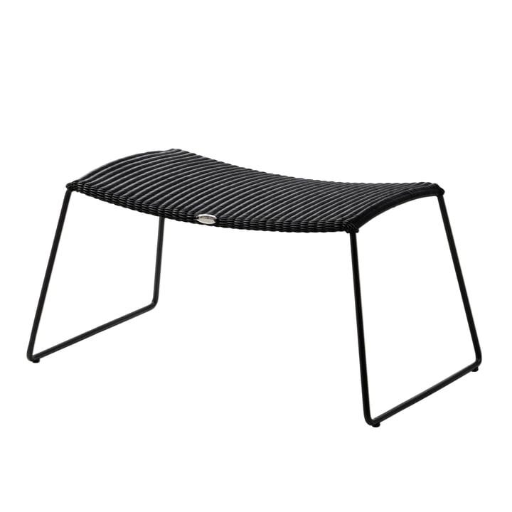 Breeze Hocker (5369) von Cane-line in schwarz