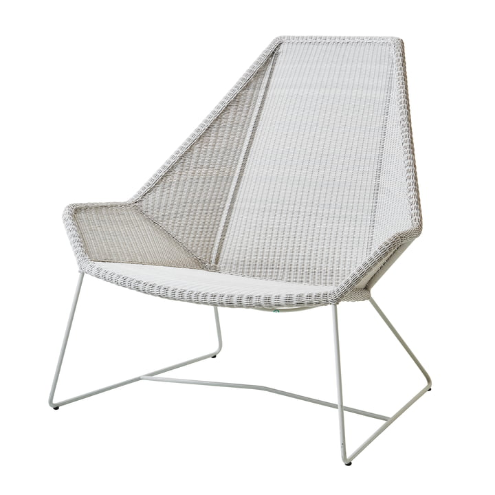 Breeze Highback Sessel (5469) von Cane-line in weiß-grau