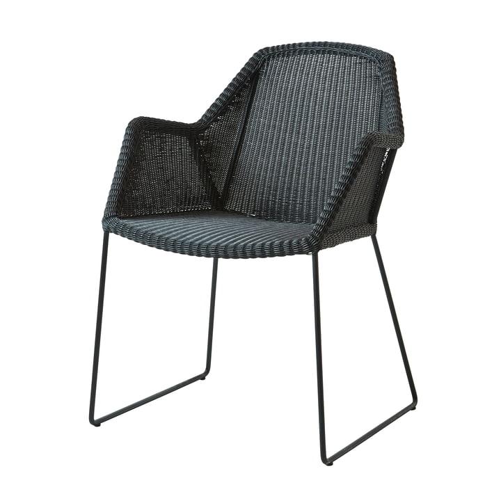 Breeze Sessel (5467) von Cane-line in schwarz