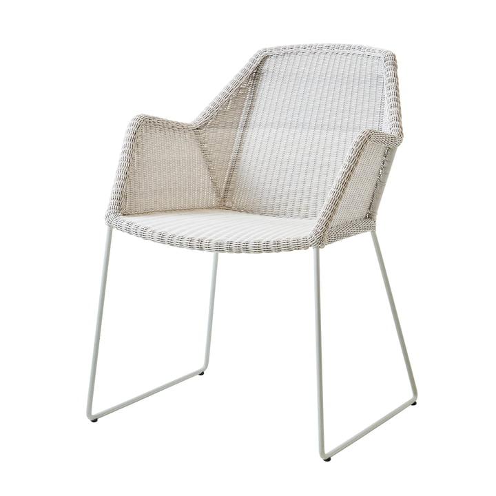 Breeze Sessel (5467) von Cane-line in weiß-grau