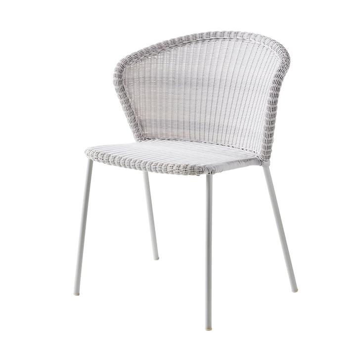 Lean Stuhl (5410) von Cane-line in weiß-grau