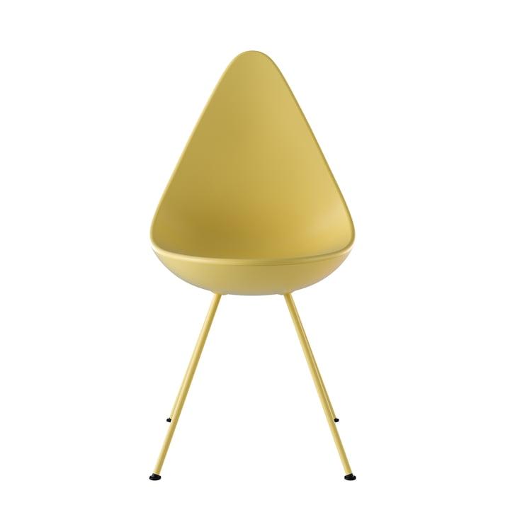 Drop Stuhl von Fritz Hansen in gen-z yellow